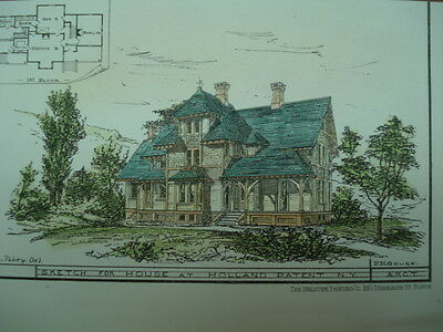 Sketch of House, Holland Patent, NY, Original Plan