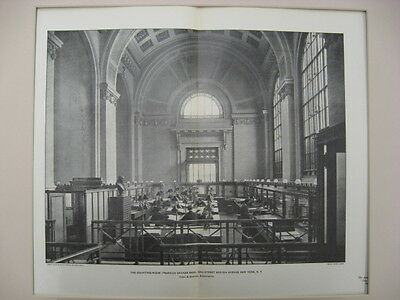 Franklin Bank Counting-Room, NY, 1901, Photogravure