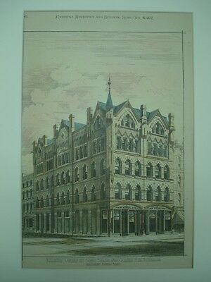 Building, Corner of North Salina & Church Sts., Syracuse, NY, 1877, Orig. Plan