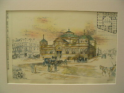 Halifax Bank, Halifax, UK, 1895, Original Plan