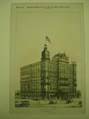 The Caldwell Hotel, Birmingham, AL, 1887, Original Plan