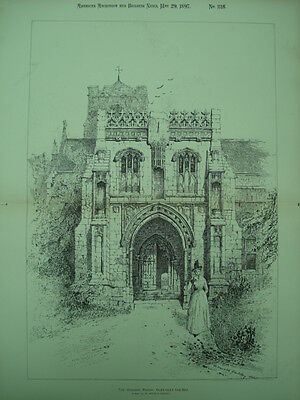 The Church Porch, Cley-next-the-Sea, England, 1897, Original Plan
