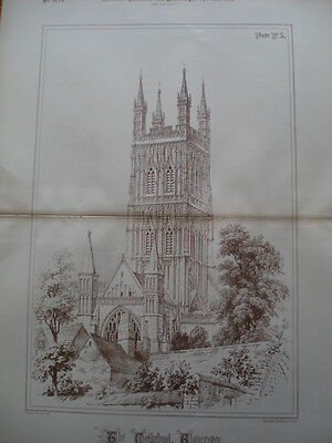 Gloucester Cathedral, Gloucestershire, England, 1888- Original Plan