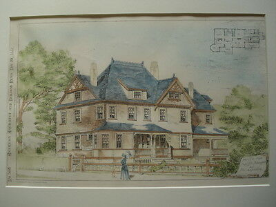 House for Mrs. S.M. Blanchard, N. Andover MA, 1881- Original Plan