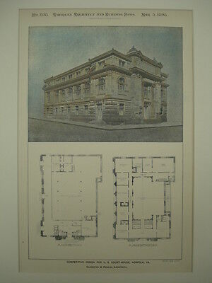 Alternate Competitive Design for the US Court-House, Norfolk, VA, 1898, Original