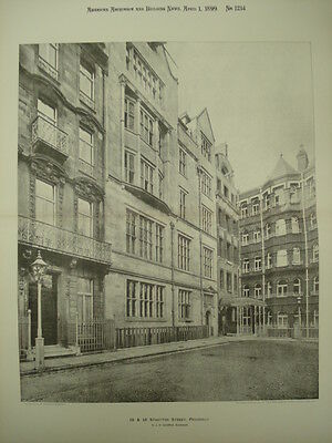 15 & 16 Stratton Street, Piccadilly, London, England, 1899, Lithograph