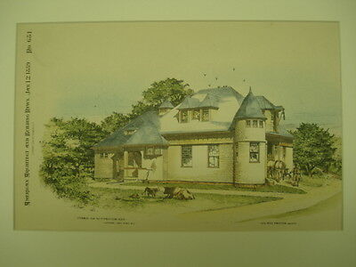 Stable for W. F. Proctor, Esq., New York, NY, 1889, Original Plan
