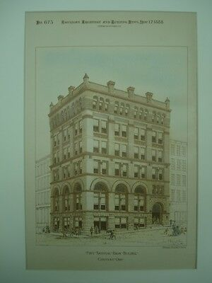 First National Bank Building, Cincinnati, OH, 1888, Original Plan
