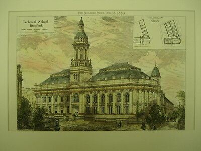 Technical School, Bradford, England, 1880, Original Plan