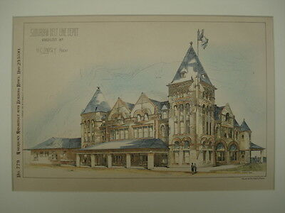 Suburban Belt Line Depot, Kansas City, MO, 1890, Original Plan