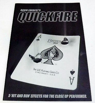 Quickfire David Forest Full52 Production - New Excellent Booklet
