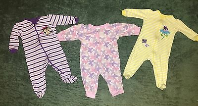 Lot EUC BABY GIRL 6-9 Months Sleepers, Pajamas, One Piece Outfits
