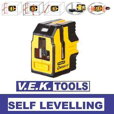 STANLEY CROSS90 SELF LEVELLING CROSS LINE LASER LEVEL-Horizontal-Vertical-pls