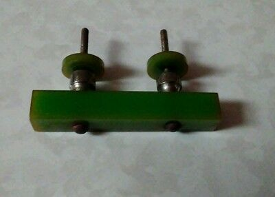 Green art deco bakelite metal Pull handles knobs l