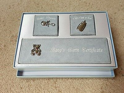 baby boy new born gift pack  first tooth & curl baby's birth certificate and b