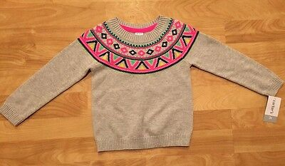 Carter's Toddler Girls' Lt. Gray Knit Pullover Sweater Cardigan, 3T