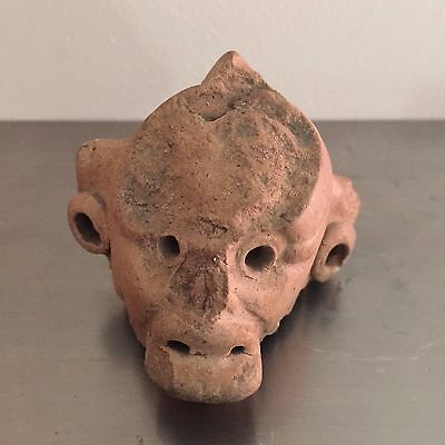Mexico, Mayan, Tikal, c. 550-900 AD., Monkey head fragment, 1.75 in. Height