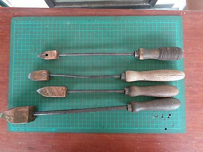 Vintage soldering irons, copper ends, some numbered