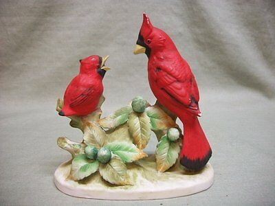 Lefton China Hand Painted Cardinals KW467 - Japan