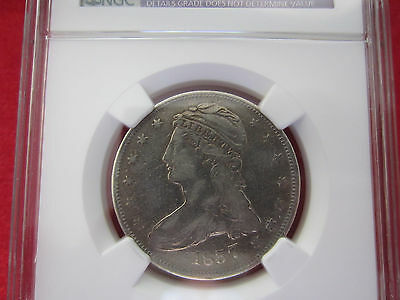 1837 US Capped Bust Half Dollar Coin 50C NGC VF Details