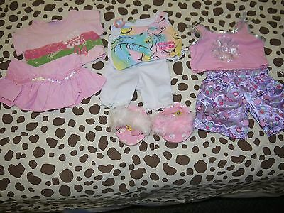 build a bear clothes girls gear with pink fluffy slippers