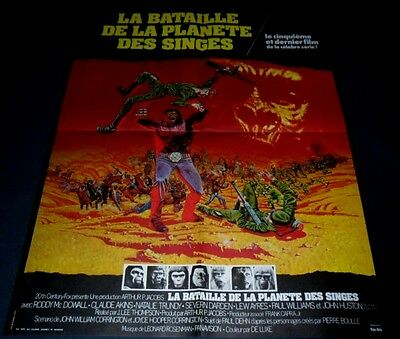 1973 Battle for the Planet of Apes ORIGINAL FRENCH POSTER Ted Post John Huston