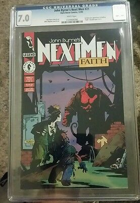 NEXT MEN #21 - CGC 7.0 - 1st Color Appearance of HELLBOY - Mignola, Byrne