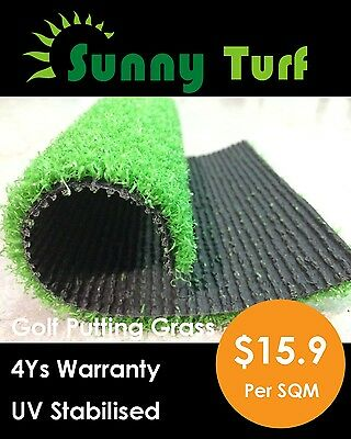 Artificial 10Mm Golf Grass Synthetic Turf Fake Lawn Rooftop Pool