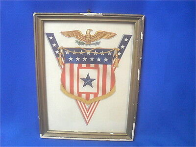 Original WWII US Home Front Sons in Service Patriotic Blue Star Display