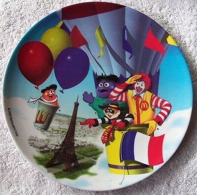 """New 2000 McDonalds 9 1/2"""" Plastic Ronald & friends in balloon Collector Plate"""