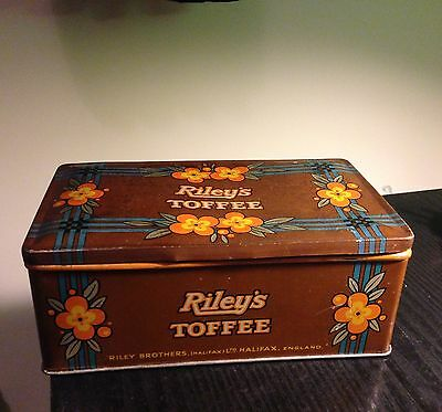 Vintage/antique Riley Brothers of Halifax Toffee Tin Brown