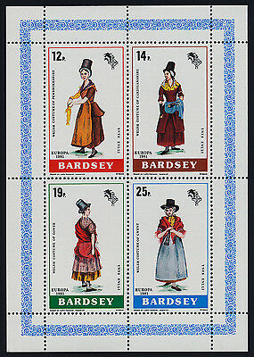 Bardsey m/s MNH EUROPA, Welsh Country Costumes