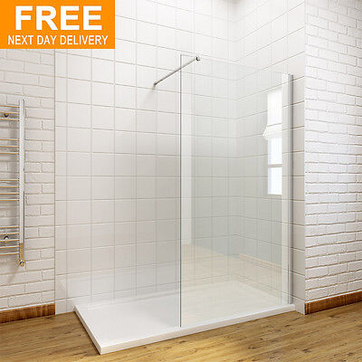 Walk In Shower Enclosure Wet Room Screen Panel 8mm Easy Clean Glass 1900mm