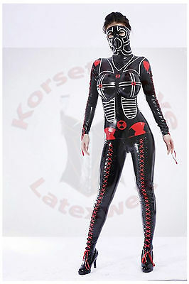 Latex Catsuit mit Brustteil, 100% Gummi / Rubber, Maßanfertigung, Made to Measur