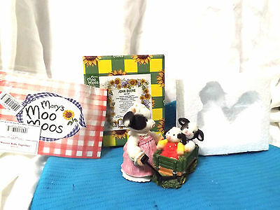 "Mary Moo John Deere Enesco  ""Weeeee Ride Together"" NEW IN BOX 1998"