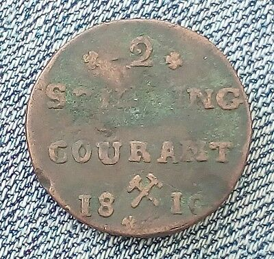 Norway 2 Skilling Courant 1810
