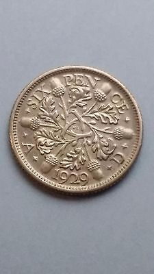 Great Britain 6 Pence, 1929