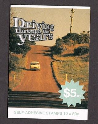 2006 Australia Decimal P&S Booklet  Driving through years -MNH 10 x 50c Folded
