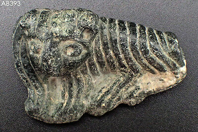 Animal Amulet Ancient Wonderful Bactrian Lovely Stone Lion Tiger #393