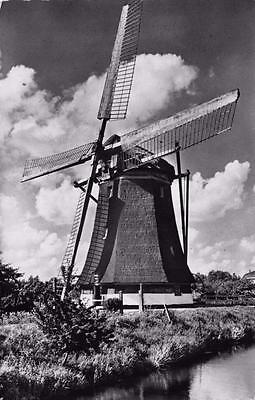 Postcard Vintage REAL PHOTO Dutch Windmill Holland Netherlands