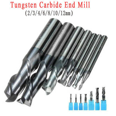 Solid Carbide Tungsten Coating Slot Drill Bit 2 Flute 2/3/4/6/8/10/12mm End Mill