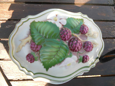 Franklin mint jelly mold with a berries on