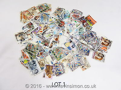 Used Mixed Kiloware Stamps GB UK Collection Lot1 off paper