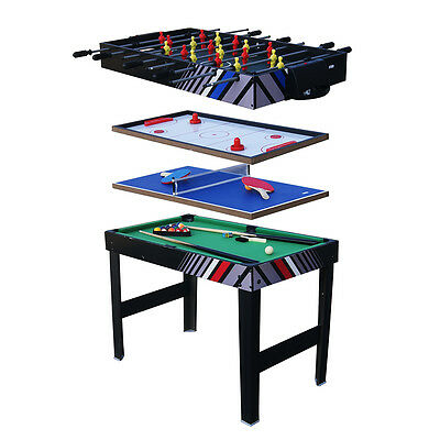 Multi Games Table 4-In-1 Hockey Football Billiard Ping-pong Table+ Accessories