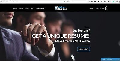 Highly Profitable Resume Business. OxfordResumes.com FOR SALE!