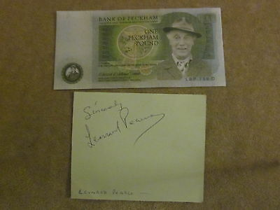 Only Fools And Horses Lennard Pearce Autograph