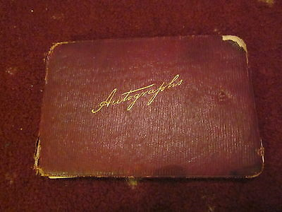 Autograph Album From Early 1900's Lots Of Autographs