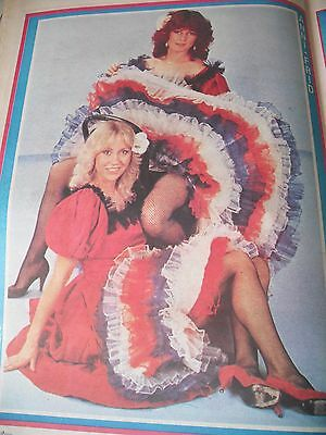 Abba  Frida & Agnetha Can- Can Dresses Great A3 Single Page Magazine Poster