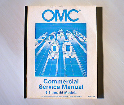 OMC OUTBOARDS COMMERCIAL MANUAL 6.5hp to 55hp MODELS (JOHNSON EVINRUDE)