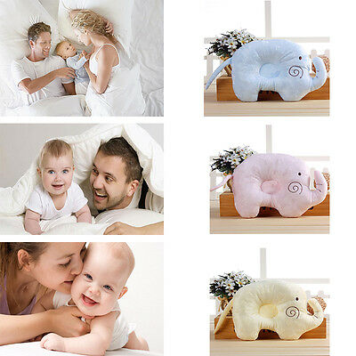 Cute shape SOFT infant newborn baby COT PILLOW PREVENT FLAT HEAD SUPPORT CUSHION